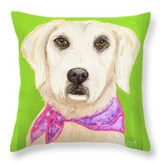 Date With Paint Feb 19 Sally Throw Pillow