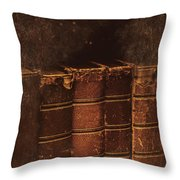 Dated Textbooks Throw Pillow