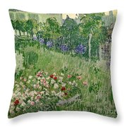 Daubigny's Garden Throw Pillow