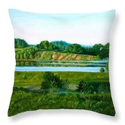 Daugava Throw Pillow