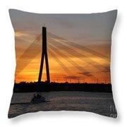 Daugava Sunset. Riga. Latvia Throw Pillow