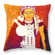 Daughter Of The Bright Sun - Kushe Throw Pillow