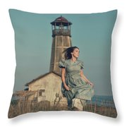 Daughter Of The Lighthouse Keeper Throw Pillow
