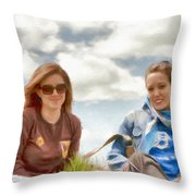 Daughters Throw Pillow