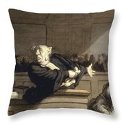 Daumier: Advocate, 1860 Throw Pillow