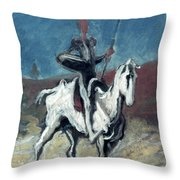 Daumier: Quixote, 19th C Throw Pillow