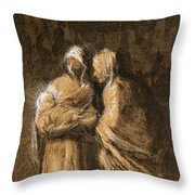 Daumier: Virgin & Child Throw Pillow