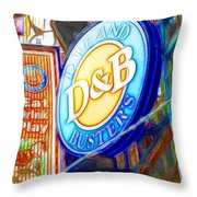 Dave And Buster's Throw Pillow