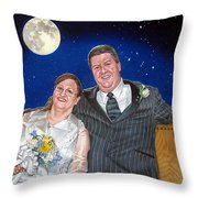 Dave And Sue Throw Pillow