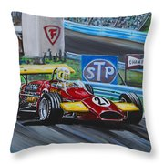 Dave Flying On The Glen Throw Pillow