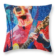 Dave Matthews Squared Throw Pillow