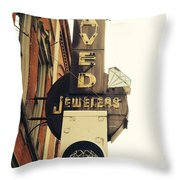 Daved Jewelers  Throw Pillow
