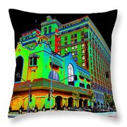 Davenport Hotel Downtown Spokane Throw Pillow