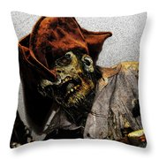 Davey Jones Throw Pillow by David Lee Thompson