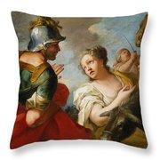 David And Abigail Throw Pillow