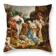 David And Abigail Throw Pillow