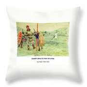 David And Goliath Throw Pillow