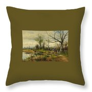 David Bates England Throw Pillow