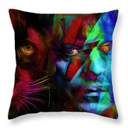 David Bowie - Cat People  Throw Pillow