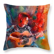 David Bowie In Space Oddity Throw Pillow