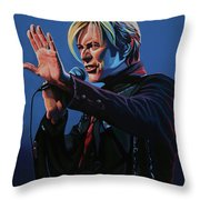 David Bowie Live Painting Throw Pillow