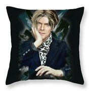 David Bowie Throw Pillow