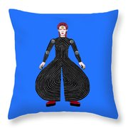 David Bowie - Moonage Daydream Throw Pillow