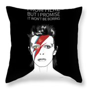 David Bowie Quote Throw Pillow