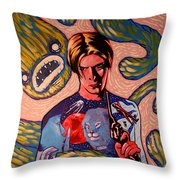 David Bowie Song Reference Painting Throw Pillow