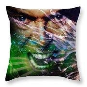 David Bowie The Legend Throw Pillow