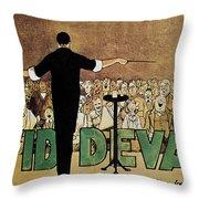 David Devant Poster C1910 Throw Pillow