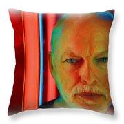 David Gilmour Red,nixo Throw Pillow