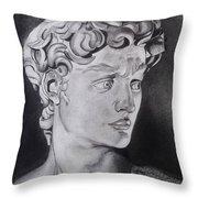 David In Pencil Throw Pillow