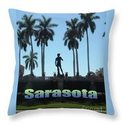 David In Sarasota Throw Pillow