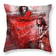 David Lee Roth And Eddie Van Halen Jump Throw Pillow
