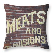 David Mann - Meats And Provisions Throw Pillow