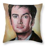 David Tennant Throw Pillow