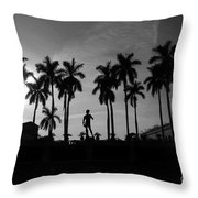 David With Palms Throw Pillow