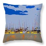 Davis Island Yachts Throw Pillow