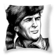 Davy Crockett Throw Pillow