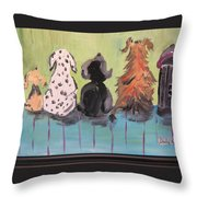 Dawg Outhouse Throw Pillow