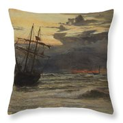 Dawn After The Storm Throw Pillow