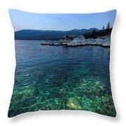 Dawn Arrives At Lake Tahoe  Throw Pillow