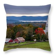 dawn arrives at sleepy Peacham Vermont Throw Pillow