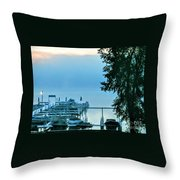 Dawn At Bay Colony Throw Pillow