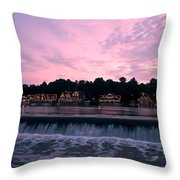 Dawn At Boathouse Row Throw Pillow