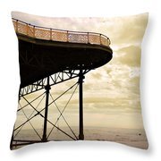 Dawn At Colwyn Bay Victoria Pier Conwy North Wales Uk  Throw Pillow