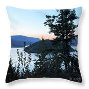 Dawn At Copper Island Throw Pillow