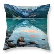 Dawn At Lake Louise Throw Pillow