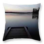 Dawn At Lynx Lake In Northern Saskatchewan Throw Pillow